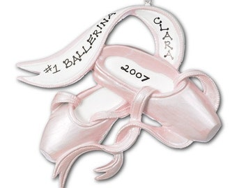 Personalized Dance / Recital Christmas Ornaments- Ballet Shoes- Great gift for the dancers and the teachers.