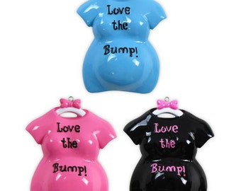Personalized Christmas Ornament -Pregnant, Expecting Mother, Mom to be, Baby Bump, Baby Shower