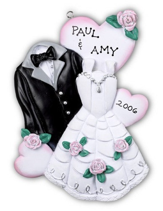 Personalized Ornament Christmas Newlywed Couple First Christmas