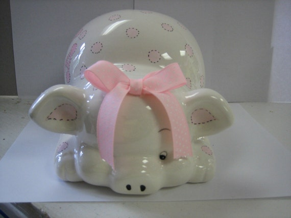 Personalized  Piggy Bank Newborns, Boys and Girls  Baby Shower Centerpiece