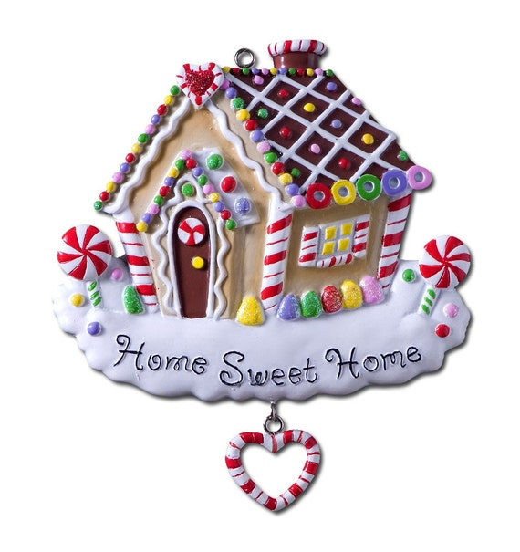 Personalized Gingerbread  Christmas Ornament Home Sweet Home- Great Gift for the New House