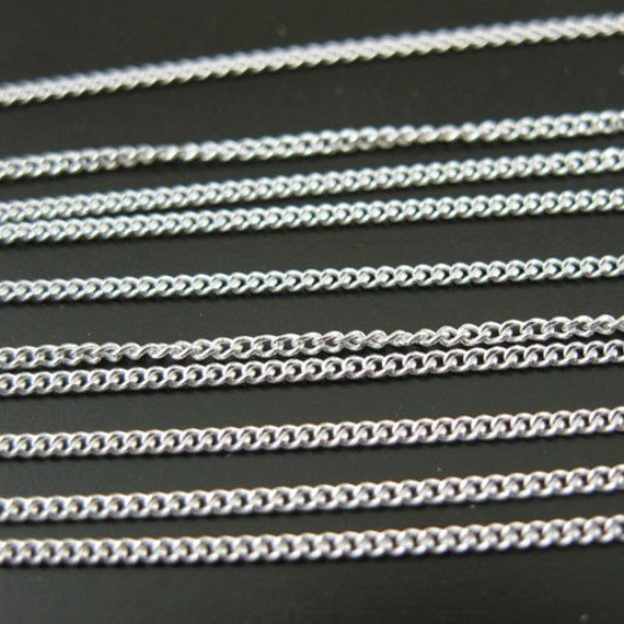 Save 5% - Sterling Silver Chain - Tiny Curb- ( 10 feet or 120 inches) --101001