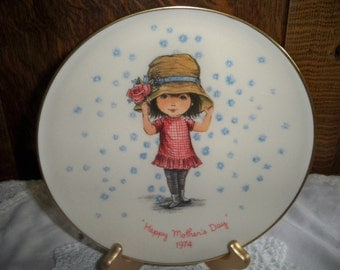 1974 Mother's Day Moppets Collectible Plate - Gorham China