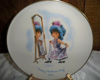 1975 Mother's Day Moppets Collectible Plate - Gorham China