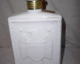 J. W. Dant's Milk Glass Whiskey Bottle