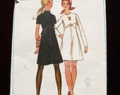 Vintage 1960s A Line Dress Pattern - Bust 40 inches