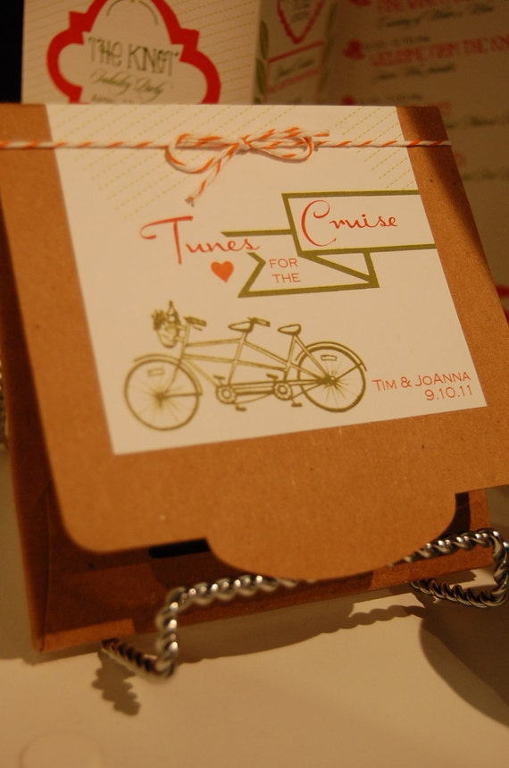items similar to tunes for the cruise cd wedding favor on etsy