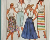 Misses Pull On Skirts in Three Lengths Vintage Simplicity 9201 Suitable for Overlock\/Serger
