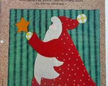 Quilt Blocks Stargazing Santa and Poinsettia