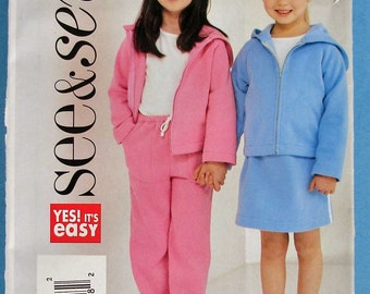 Girls Jacket, Skirt and Pants  See and Sew 3947