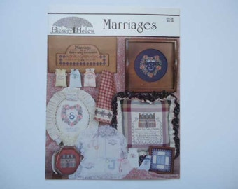 Marriages Cross Stitch Pattern Leaflet