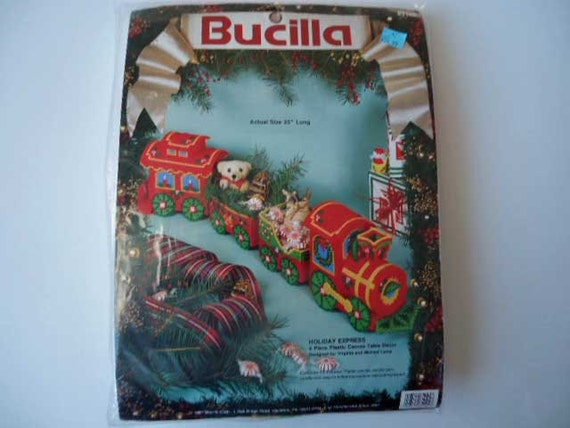 Christmas Train Plastic Canvas Kit