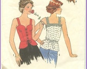 CORSET TOP  PATTERN, 1977,  Lace-up Option, Shoulder Straps, Hard or Soft Look, Simplicity 8072, Vintage Sewing