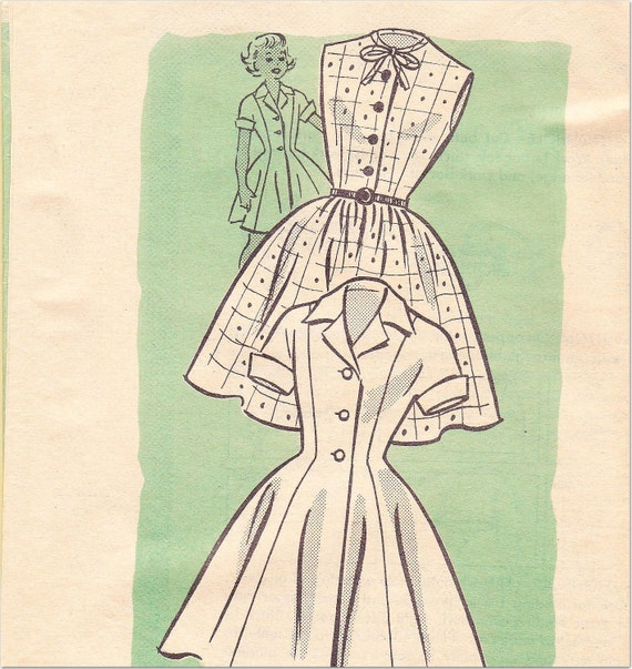 "Girl's Dress Pattern, Vintage MARIAN MARTIN Mail Order, Size 8-Breast 26"",  1950s"
