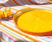 "Hand Painted Wood Serving Tray, 17"", Orange Slice or Design of Your Choice"