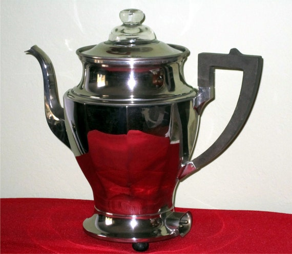 Vintage UNIVERSAL Silverplate Electric  COFFEE POT by Landers Fray & Clark