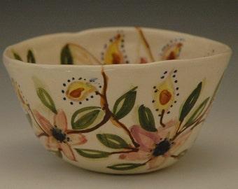 Flowered Porcelain Bowl