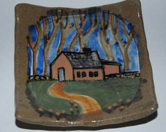 Square House Plate