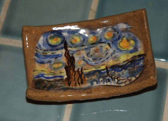 Starry Night Soap Dish Spoon Rest