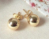 Gold filled round stud earrings