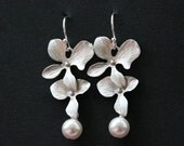Sophisticated orchid earrings