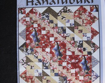 Hanafubuki a Quilt Pattern for Large Scale and Asian Fabrics
