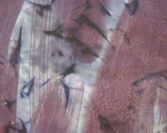 Batik Fabric Purple Blue Slash Print 1 1/8 Yards