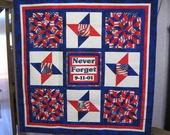 Never Forget 9-11-01 Quilt