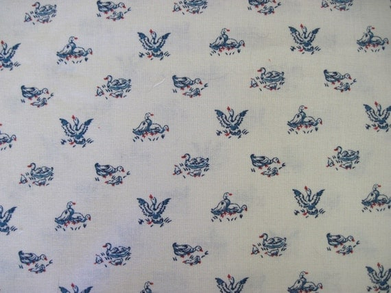 Antique Conversationals Duck Print Fabric by RJR