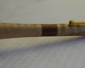 Handmade Large flaired end Maple pen with a Walnut band and Satin Gold hardware, Handcrafted, recycled wood, reclaimed wood, custom pen, 66