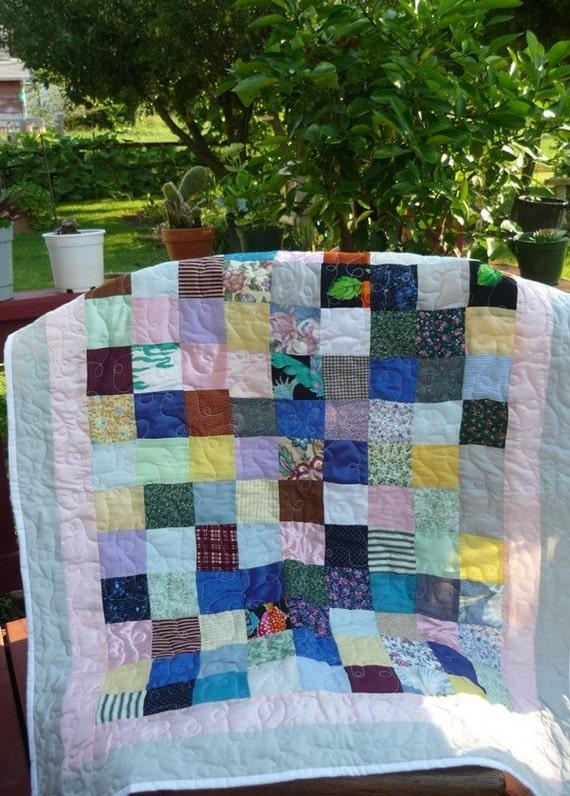 nine patchwork quilt, nursery bedding ,handmade ,quilt ,unique gifts crib blanket, crib bedding, toddles quilt