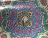 Crazy Large Exotic Flower VALENTINO Vintage Silk Scarf