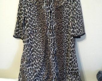 Leopard Print 1960's Bye Bye Birdie VANITY FAIR Vintage Peignoir Set