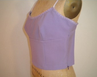Dusty Lavender Vintage MOSCHINO Jeans Spagetti Strap Fine Wool Blend Top - Size 12