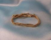 CLEARANCE SALE - Vintage Gold Rhinestone Bracelet - Free Shipping