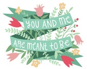 Art Print - You and Me
