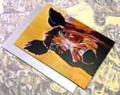 Wild Boar Fine Art Greeting Card