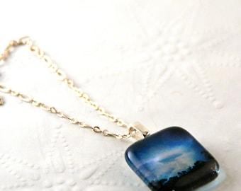 Blue Sky Passage Photography Pendant Necklace