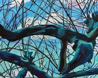 Plane Trees of Albi France Oil Landscape Painting