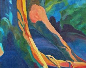 SALE Fine Art Landscape Painting LIve Oak Roots