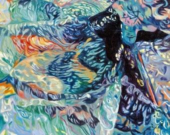 Original Fine Art Oil Seascape Painting Flotsam and Jetsam I