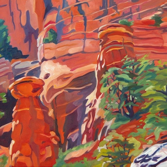 Sedona Red Rocks Original Landscape Oil Painting