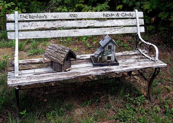 BENCH  Of  LOVE ..... Wedding....... 5 x7 Personalized Photo