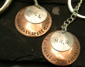 Teacher - Sterling and Copper Keychain