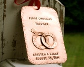 First Christmas Together Hand-Stamped Copper Keepsake Ornament - CharmsofFaith