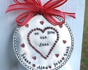 Personalized Christmas Ornament - Grandma Ornament - Nana Ornament - Holiday Personalized Ornamnt - Gift for Grandma/Nana
