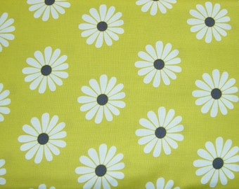 SALE - Daisy Doodle Oopsie Daisy in Lime - 1 yard - Michael Miller Fabric