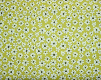 Daisy Doodle Dinky Daisy in Lime - 1 yard - Michael Miller Fabric