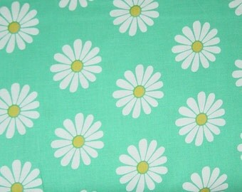 SALE - Daisy Doodle Oopsie Daisy in Turquoise - 1 yard - Michael Miller Fabric