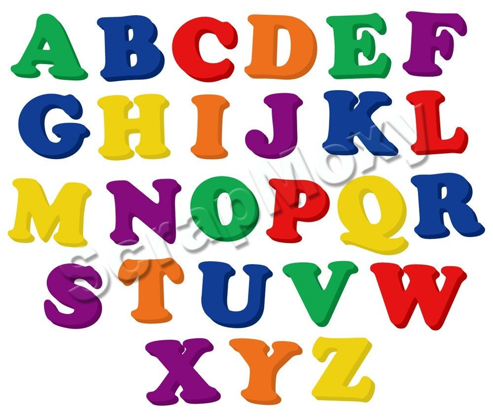 Refrigerator magnet alphabet upper case for digital for Letter fridge magnets game